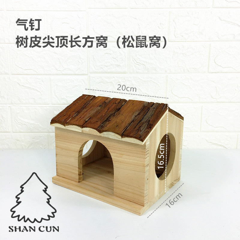 A variety of Totoro devil squirrel honey bag 鼯 hedgehog snow Dutch pig wood wooden nest wooden bark arc top nest