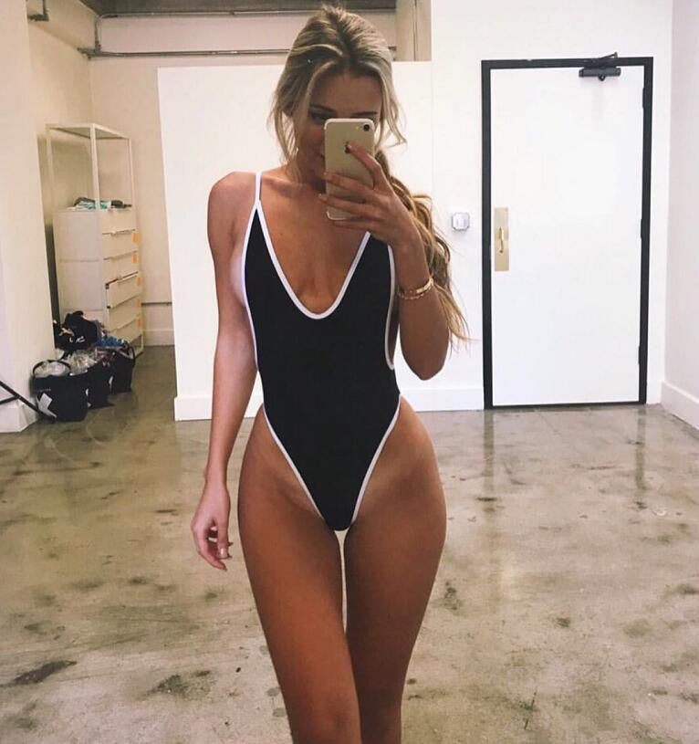 Foreign trade AliExpress new one-piece swimsuit female foreign trade swimsuit Europe and America sexy bikini perfect color one-piece bikini
