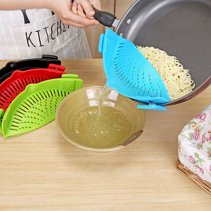 C Kitchen Drainer Silicone Potside Vegetable Drainer Drainer Noodle Leakproof Drainer