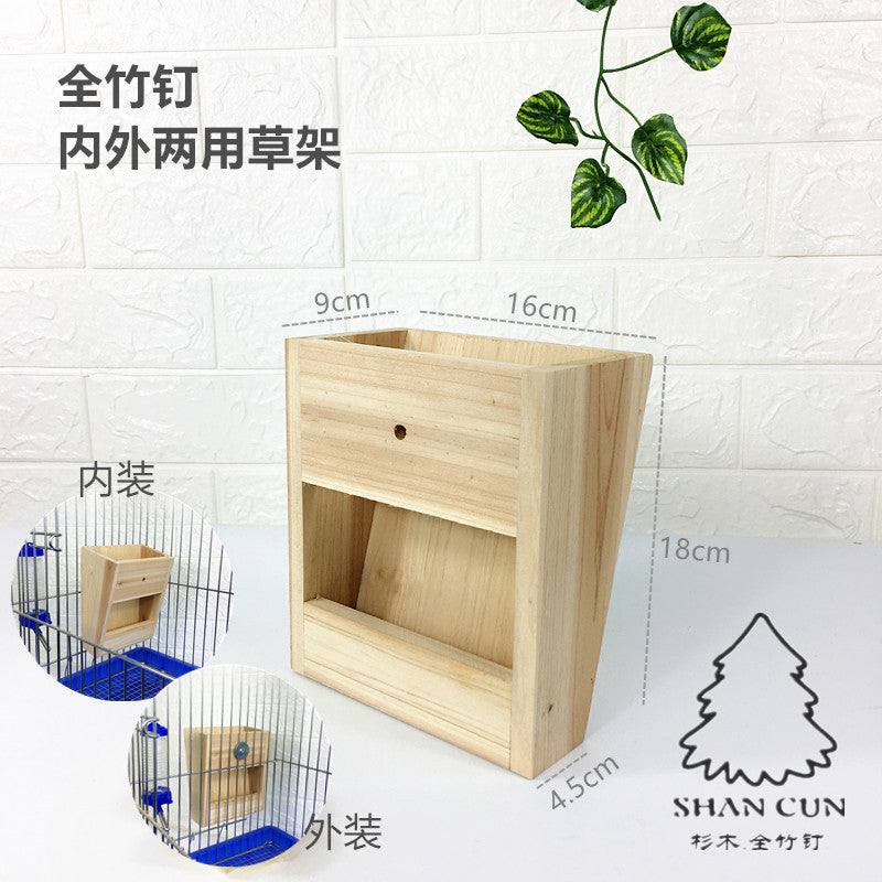 Totoro devil squirrel honey bag 鼯 猬 snow Dutch pig wood chinchillas wooden nest wooden house wholesale bamboo nail grass frame