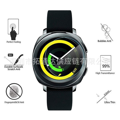 Suitable for Samsung gear sport tempered film screen protector [9H hardness] [scratch resistant]