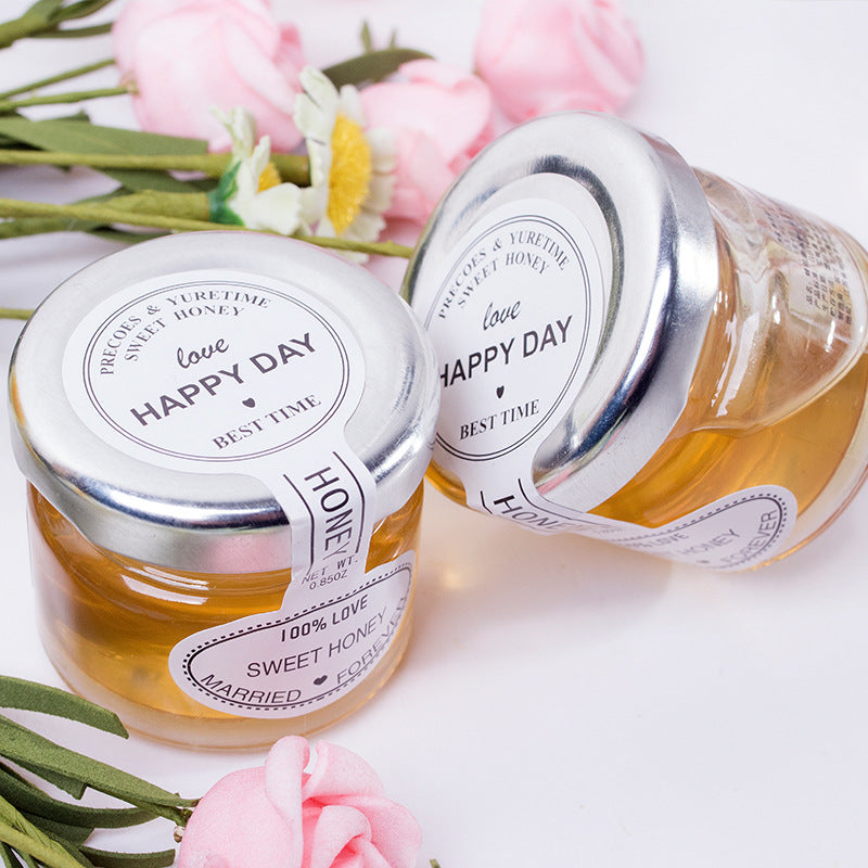 Wedding hi honey 28g bottled OEM custom wedding hi honey wedding wedding with hand gift small honey birthday return