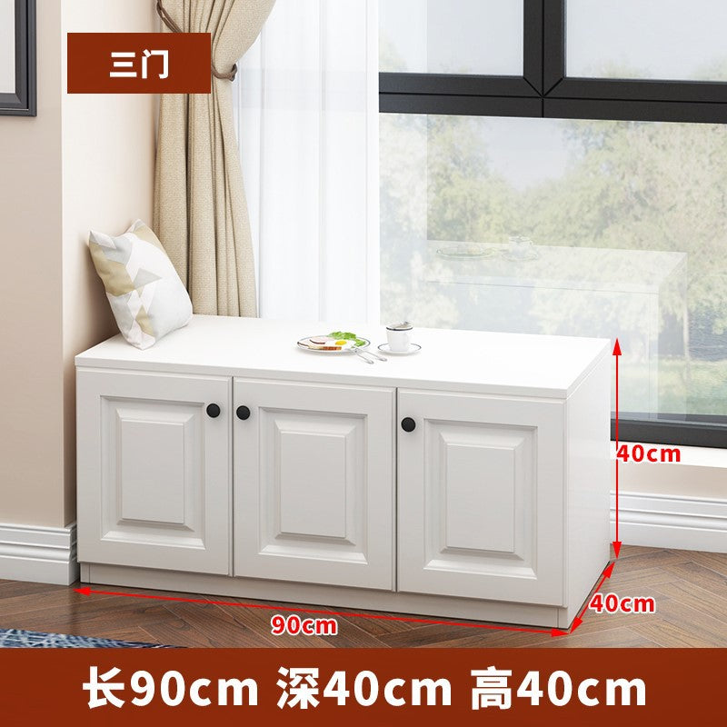 Bay window sill free combination floor cabinet storage window sill can be located on the floor cabinet cabinet low cabinet balcony locker custom