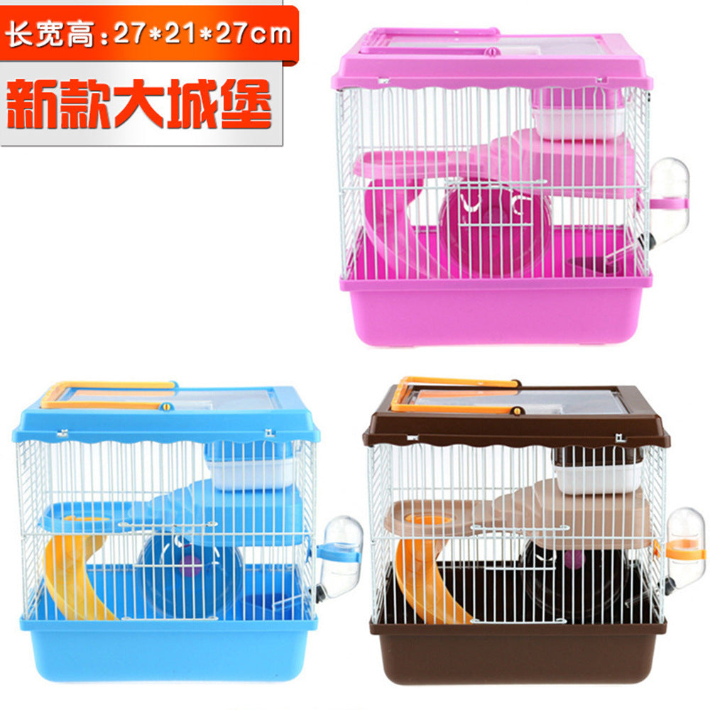 P new castle size hamster cage nest matching runner kettle basin slide height three transparent