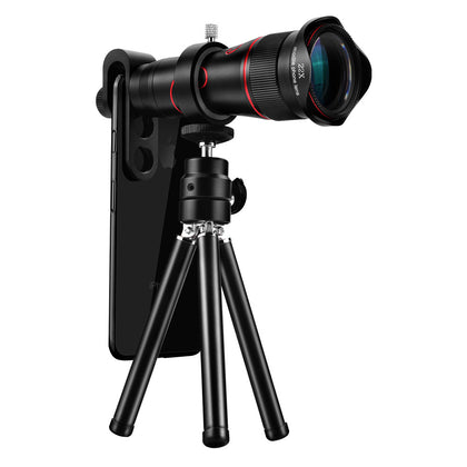 Cross-border new 22 times mobile phone lens without distortion 22 times zoom lens 4K mobile phone external telephoto telescope head
