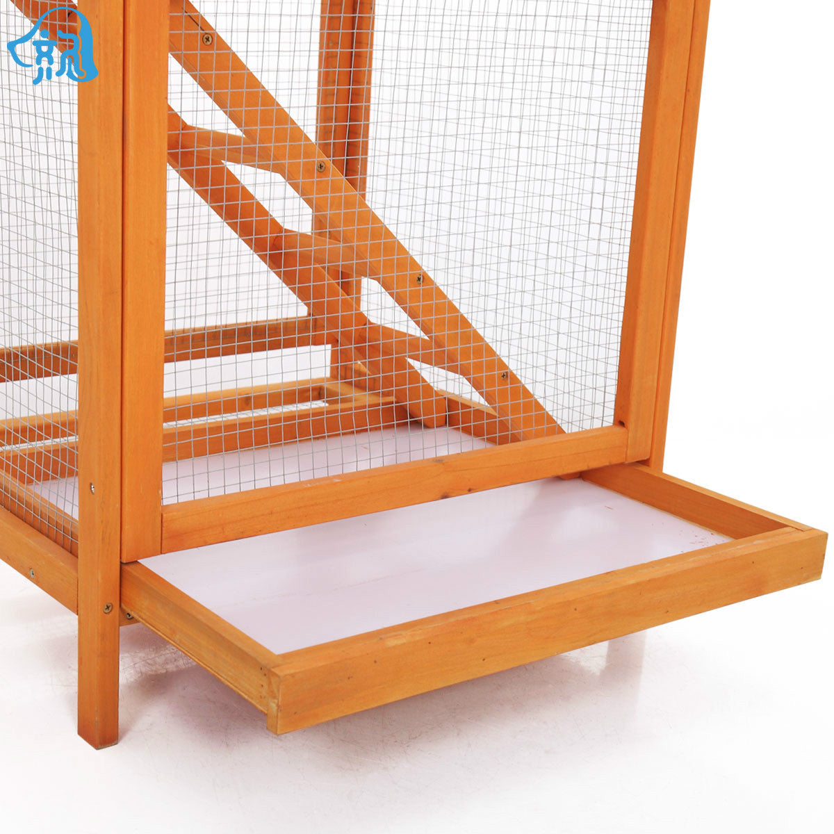 Qi Jiu bird cage bird cage squirrel cage outside solid wood bird house pigeon cage squirrel cage golden flower squirrel cage cage
