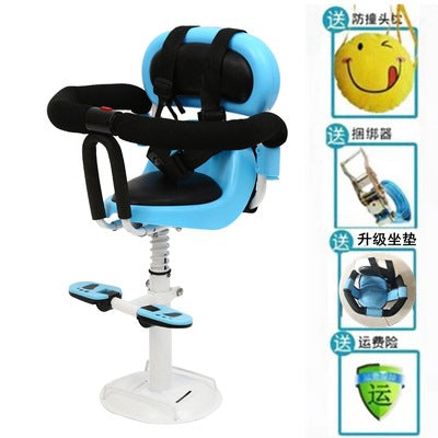 Electric scooter children sitting chair front battery car electric motorcycle child baby baby seat