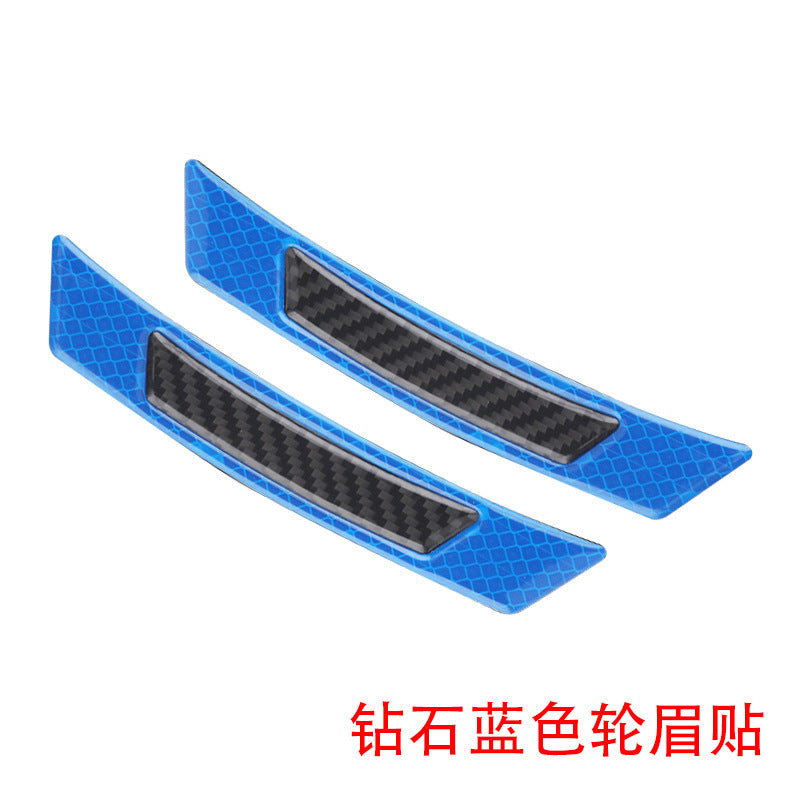 Car door anti-collision bar Door anti-collision sticker Wheel eyebrow anti-collision sticker Body reflective carbon fiber warning light