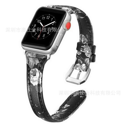 2019 New Applicable Apple Watch iwatch 4 Generation 3 Generation 2 Generation 1 Generation 1 Leather Strap 9 Color Factory Wholesale