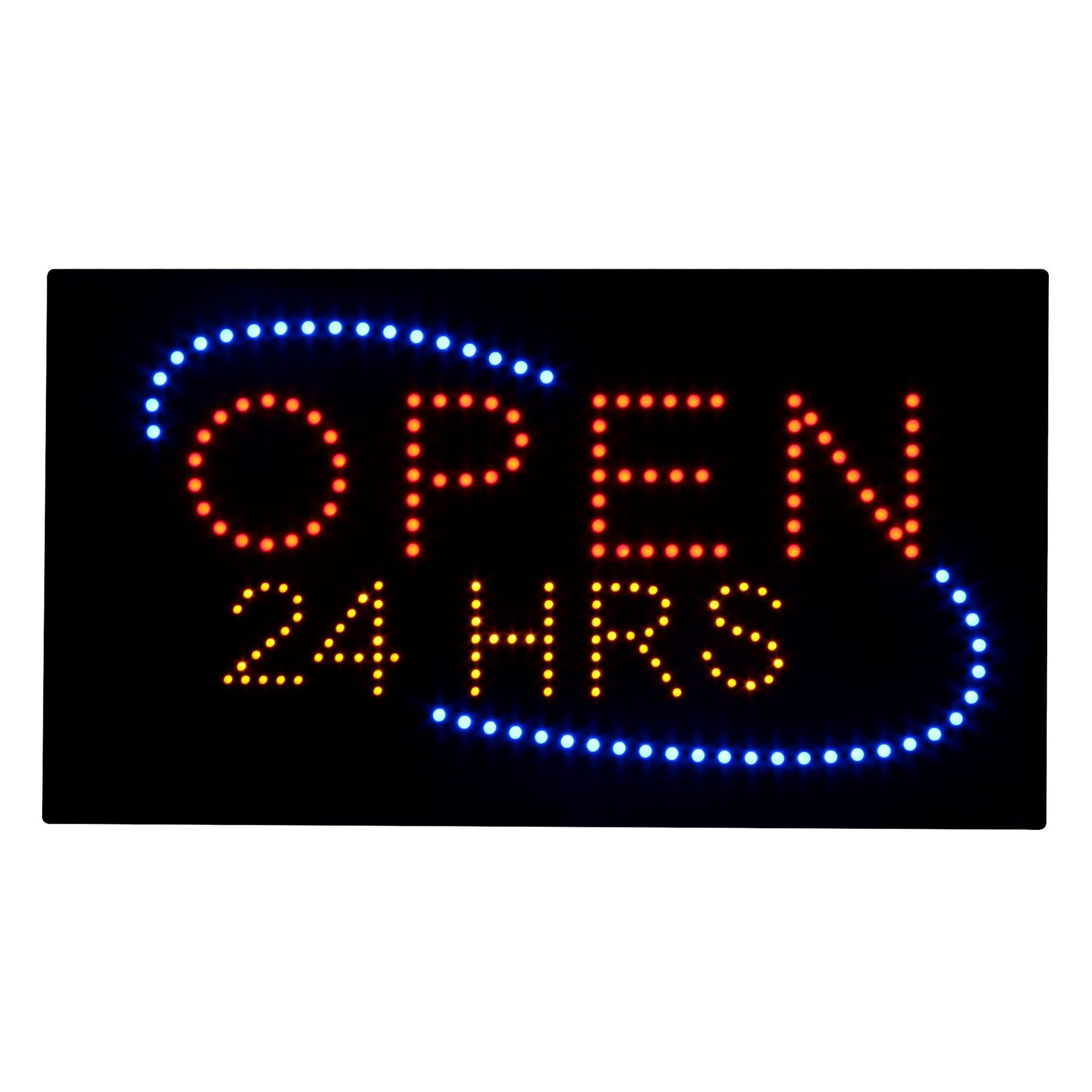 Supply time sign light box 24 hours light box open 24h light box open sig