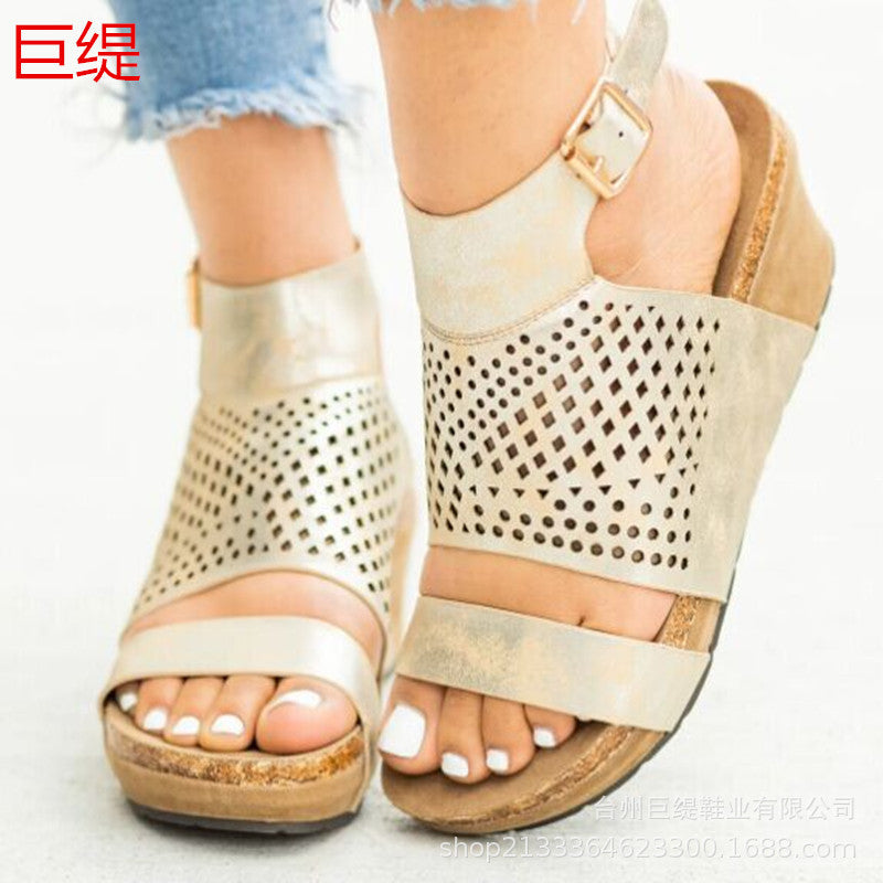 Giant tit spot wish AliExpress Amazon independent station eaby foreign trade large size sandals women