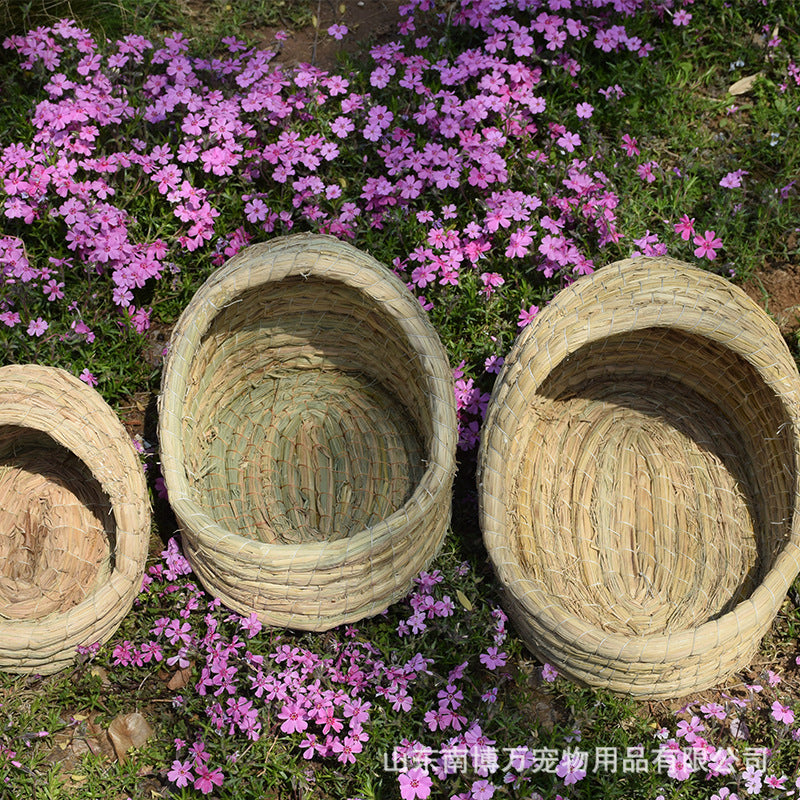 Straw pet nest Various specifications totoro slippers nest rabbit nest hedgehog nest cat nest bird nest pigeon nest