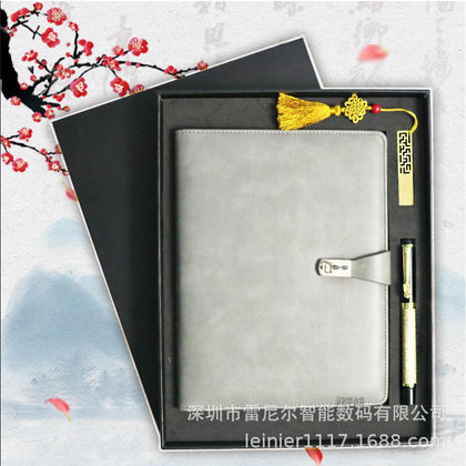 Manufacturer custom wholesale business notebook pen U disk set creative gift set can be customized logo