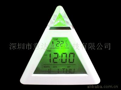 Manufacturers supply triangle clock colorful clock colorful perpetual calendar clock perpetual calendar