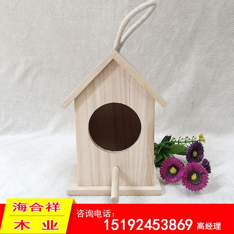 Solid wood viewing Bird's nest bird's nest interior decoration Various specifications Support customization