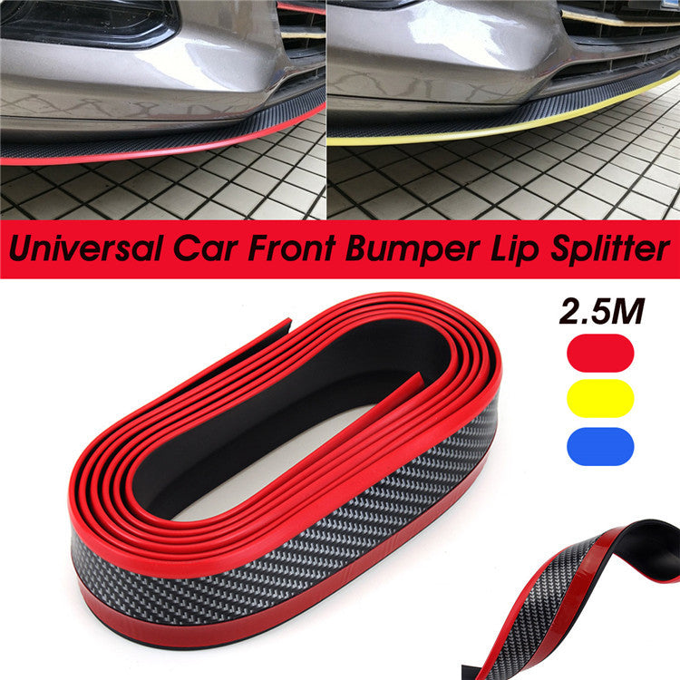 2.5m car GM front lip bumper bumper strip carbon fiber section protective strip surrounded by strip