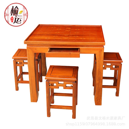 Direct sales solid wood chessboard table chess chess desk on both sides Antique Chinese training chessboard tables and chairs