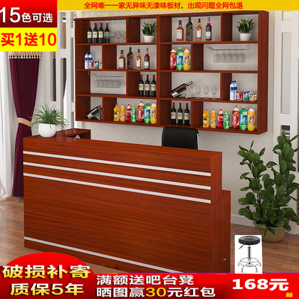 Hotel bar hanging counter wine cabinet cash register hotel combination restaurant artificial board wine rack bulk bar table
