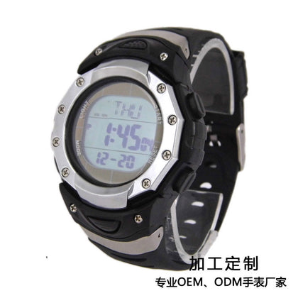2019 foreign trade export explosion models men's solar radio watch sports waterproof multifunctional student electronic watch