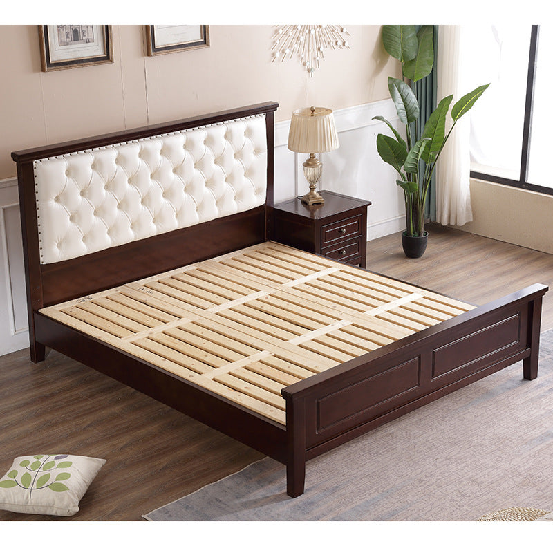 Solid wood bed American bed Soft bed 1.5m1.8m Double bed simple modern bed