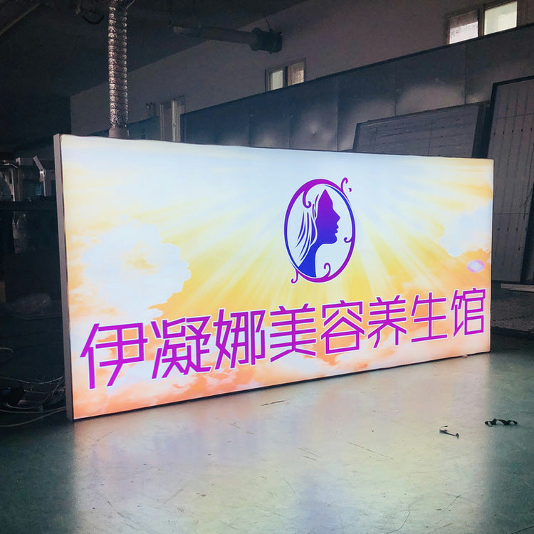 Beijing factory direct dynamic light box without border aluminum alloy programmable led dynamic flashing billboard