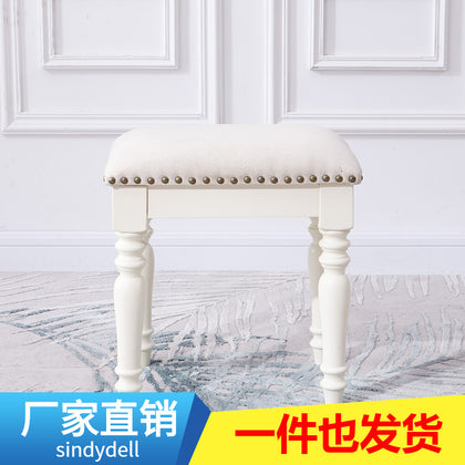 Yagug American dressing stool bedroom solid wood makeup stool makeup stool home shoe stool wear shoe stool stool M0709