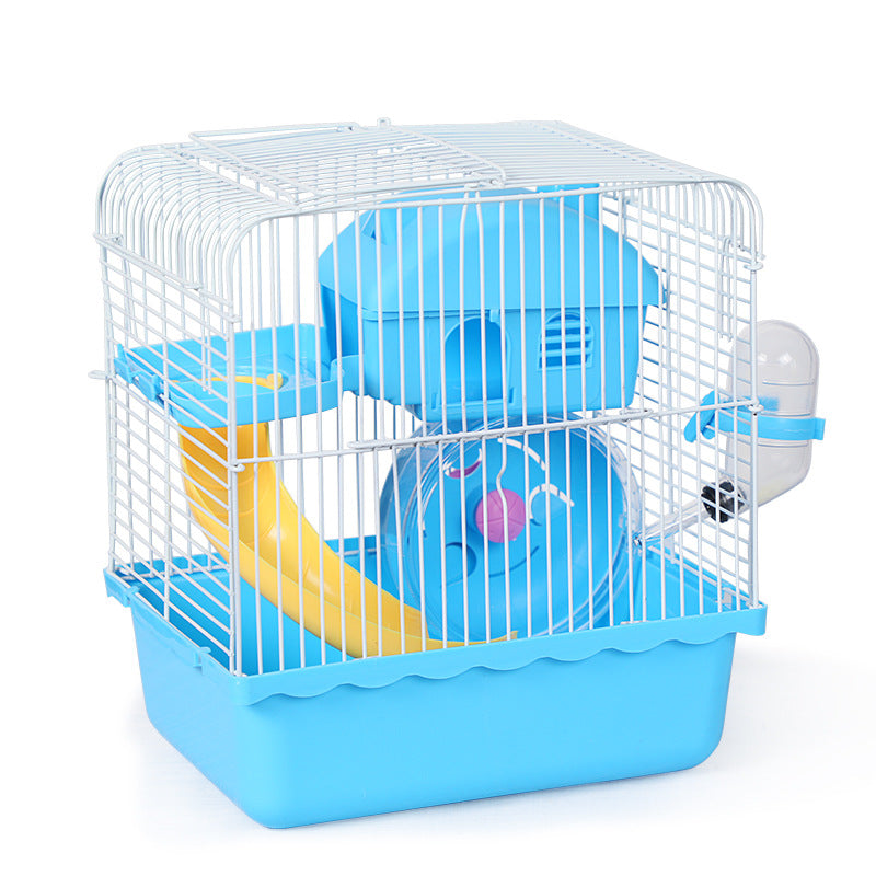Hamster cage package complete gold bear nest terrarium double-decker small hamster cage cage outing supplies