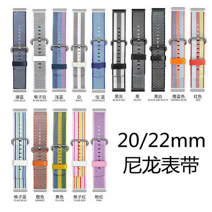 Suitable for Xiaomi color nylon strap Xiaomi color smart sports watch strap 22mm new