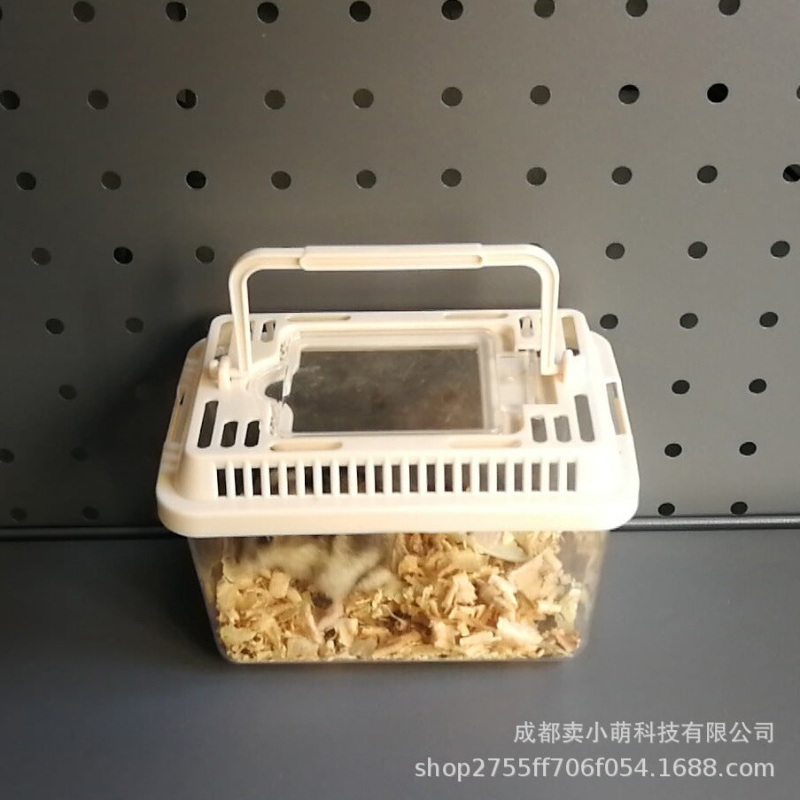 【Sell Xiaomeng】Turtle portable box turtle box portable box hamster supplies hamster cage gold bear cage hamster transport