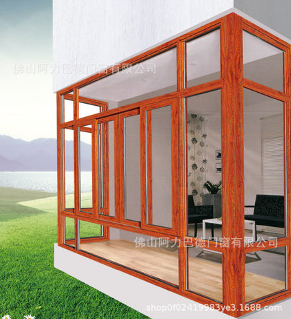 Professional custom aluminum alloy fixed window villa living room curtain wall window special accessories purchase channel