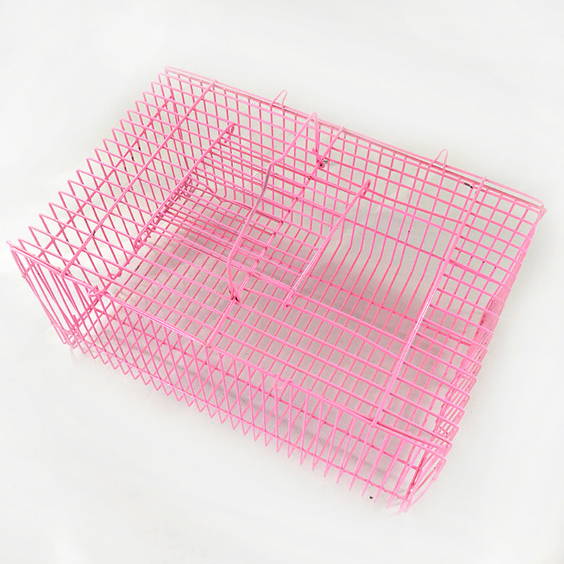 Factory for large and small pillow cage wire box Simple bird cage hamster cage rabbit cage Bold pet transport cage wholesale