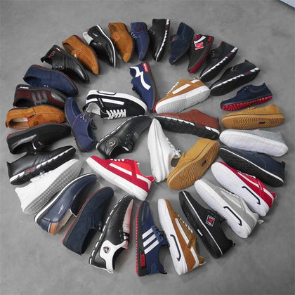 Factory Direct Men's Korean Injection Molded Fashion Canvas Shoes Low Top Stock Shoes