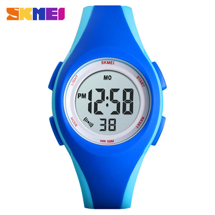 Moment beauty / SKMEI US Amazon explosion sports waterproof children's watch compact camouflage student gift watch