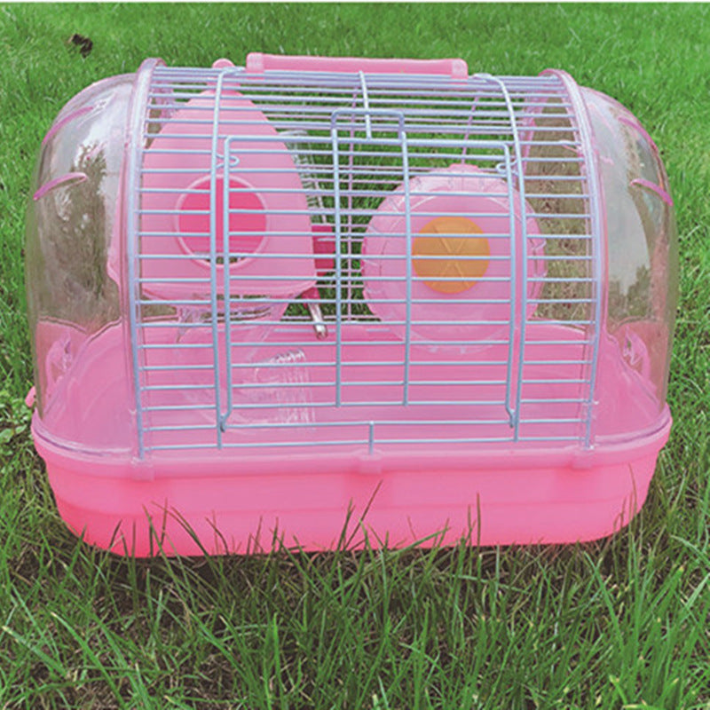YUMI Youmi Hamster Hedgehog Cage Crystal Portable Cage Hamster Golden Hamster Mini Mushroom Cage Foundation Cage