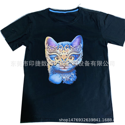 Guangdong digital printer clothing digital direct injection printing machine t-shirt printing custom machine to join the entrepreneurial project