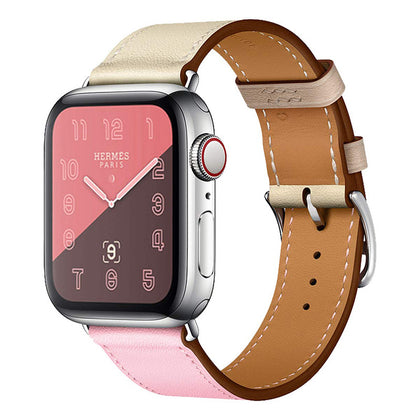 Suitable for Apple leather strap 1234 generation smart watch strap Suitable for apple watch leather strap