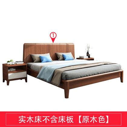 Solid wood bed 1.5 m 1.8 m double bed oak Bedroom furniture high box full solid wood bed modern fashion bed