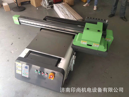 Manufacturers selling small universal uv flatbed printer 6090 heavy industrial small flatbed printer