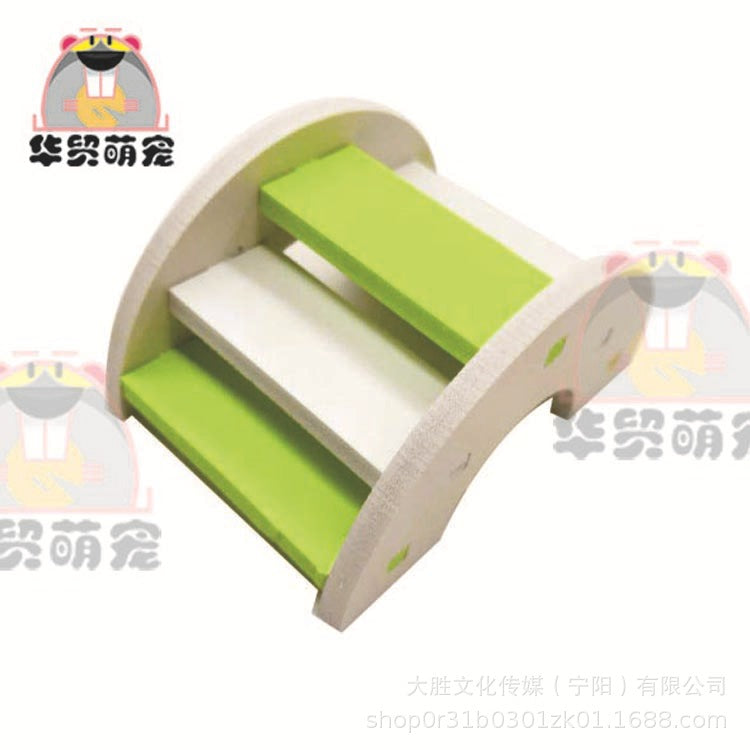 Ecological wood hamster swing 跷跷 board rainbow bridge hamster toy hamster supplies small pet supplies toys wholesale