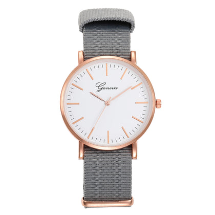 Explosion models Geneva woven cloth belt simple quartz watch ladies watches wholesale factory direct cross-border e-commerce