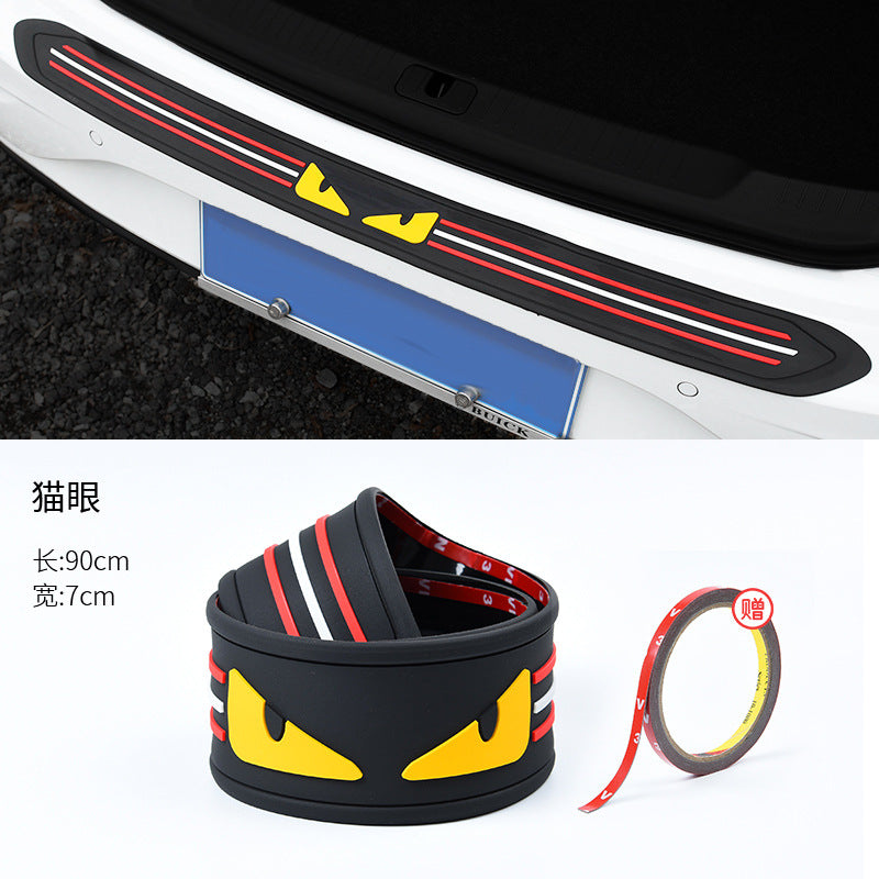Car trunk protective strips anti-collision anti-scratch strips decorative strips sills modified supplies protection stickers universal