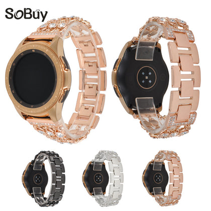 Suitable for Samsung Galaxy Watch 42mm stainless steel denim chain diamond strap Samsung S2 20mm