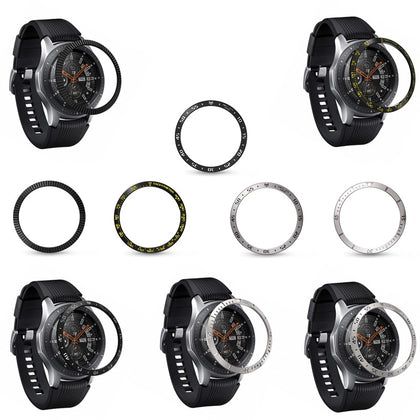 For Samsung Galaxy Watch 46mm / GearS3 Metal Bezel Stainless Steel Protective Ring