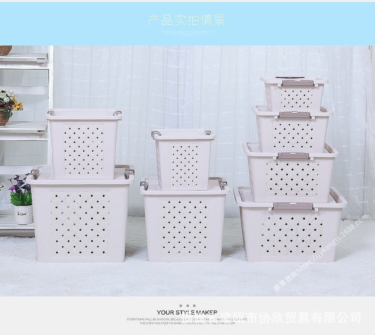 Pet live transport box Hamster supplies Ventilation storage box Breathable dustproof storage artifact
