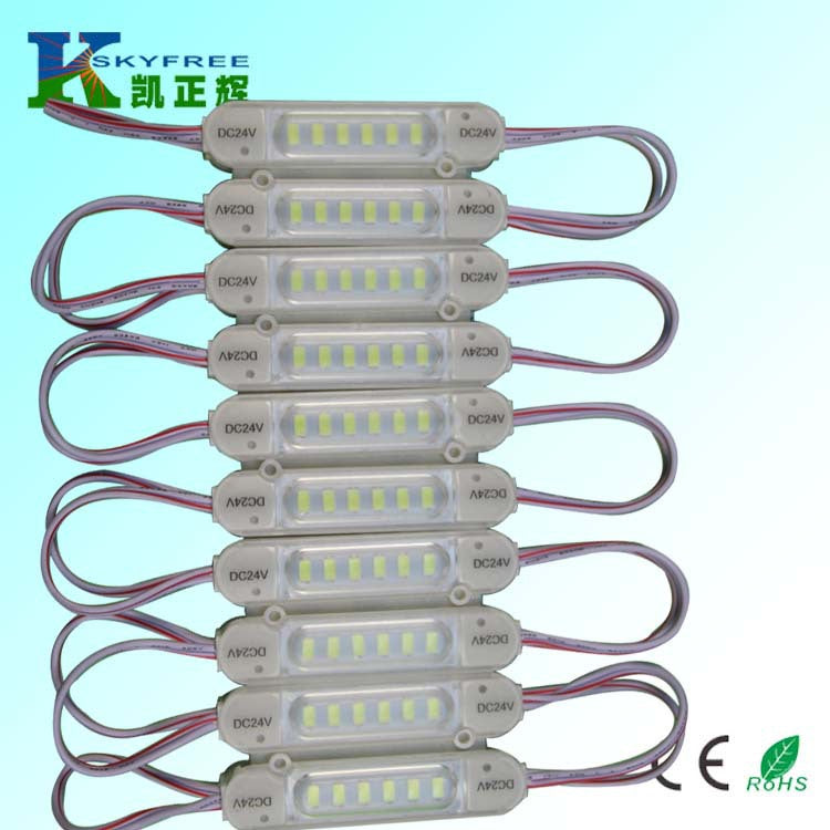 Factory direct DC24V COB module LED strip 7512 module COB injection lens waterproof module