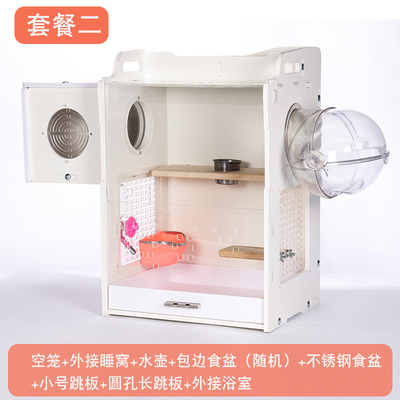 Zoog chinchillas cabinet cage honey bag 鼯 squirrel cage small pet luxury villa H600 chinchillas cage package