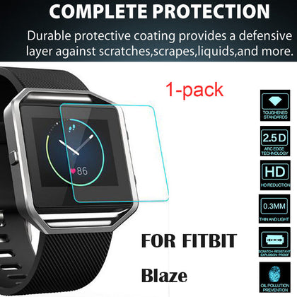 Suitable for fitbit blaze watch tempered film two pieces
