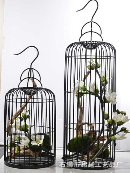 American wrought iron decorative bird cage clothing store home living room floor decoration bird cage wedding window decoration craft