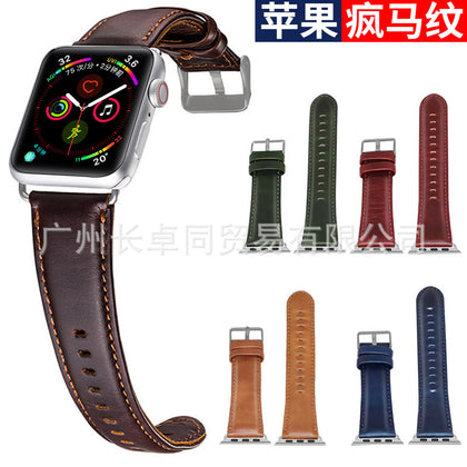 Apple Crazy Horse Pattern Strap iwatch5th Generation Watch Strap