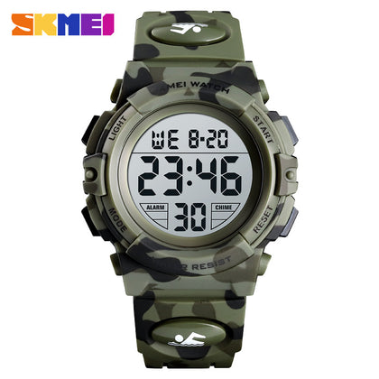 skmei childrenwatch moment US Amazon explosion models colorful led outdoor sports children's electronic watch